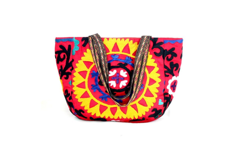 スザニ刺繍ハンドバッグ④ 「果樹明 カジュアル」
